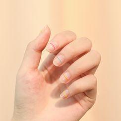 WGOMM - Striped Nail Art Stickers