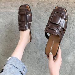 FiE FiE(フィエフィエ) - Woven Flat Slide Sandals