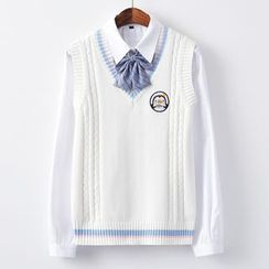 Candy House - Penguin Embroidered Sweater Vest