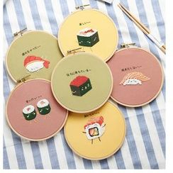 Embroidery Kingdom - Embroidered Sushi  DIY Sewing Kit
