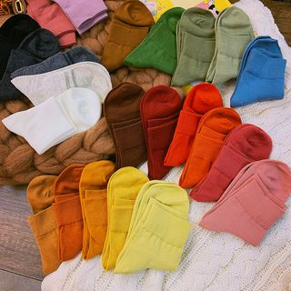 Yunikon - 純色襪子