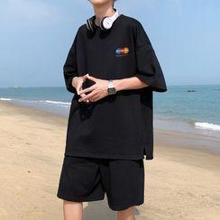 VEAZ - Set: Short-Sleeve Print T-Shirt + Shorts