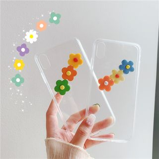 Witheart - Soft Clay Flower Transparent Mobile Case - iPhone XS Max / XS / XR / X / 8 / 8 Plus / 7 / 7 Plus / 6s / 6s Plus