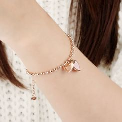 Tenri - Heart Stainless Steel Anklet