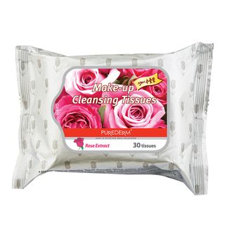 PUREDERM - Rose Make-up Cleansing Tissues 30pcs