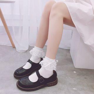 FlorSwallow - Lace-Trimmed Socks