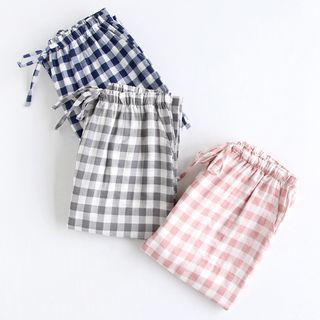 MelMount - Couple Matching Plaid Pajama Pants
