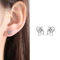 BURMASTIN - Rhinestone Stud Earrings
