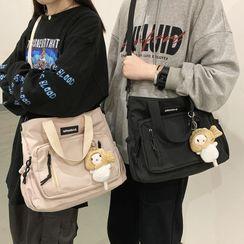 EAVALURE - Lettering Nylon Crossbody Bag