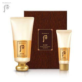 The History of Whoo - Gongjinhyang Foam Cleanser Set: Foam Cleanser 180ml + Cream Cleanser 40ml
