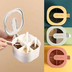 Home Simply - 塑胶多格调味容器