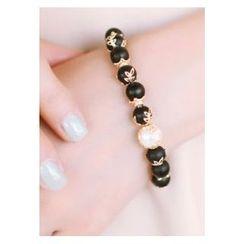 kitsch island - Gemstone Faux-Pearl Bracelet