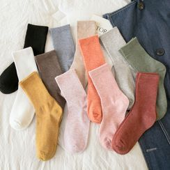 Mimiyu - Set Of 6 Pairs: Plain Socks