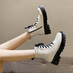 clog & wings(クロッグ&ウィングス) - Lace Up Platform Short Boots