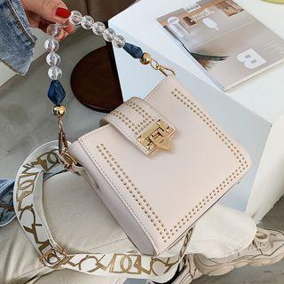 Skyglow - Bead Top Handle Wide Strap Crossbody Bag