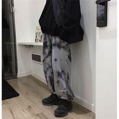 LINSI - Lettering Tie Dye Sweatpants