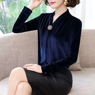 In the Mood - V-Neck Blouse