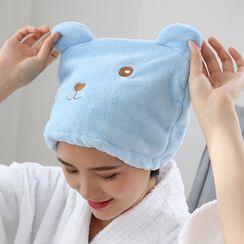 Packov - 小熊珊瑚绒干髪毛巾