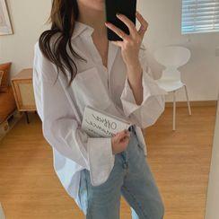 Moon City - Long-Sleeve Plain Shirt