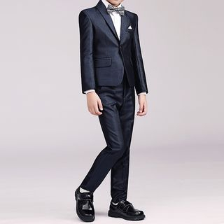 Snow Castle - Boys Blazer / Vest / Shirt / Dress Pants / Bow Tie / Brooch / Handkerchief / Set