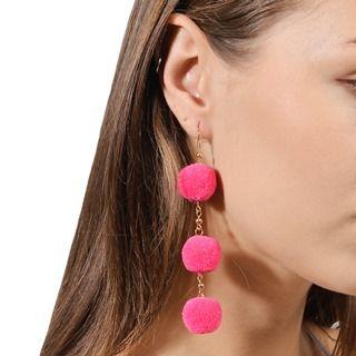 Seirios - Triple-Bobble Hook Earrings