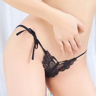 Croix - 侧领带蕾丝内裤