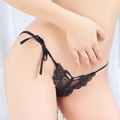 Croix - Side-Tie Lace Panties