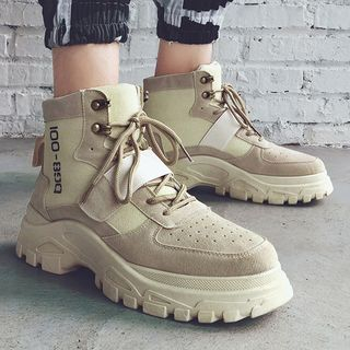 Chaoqi - Lace Up Short Boots