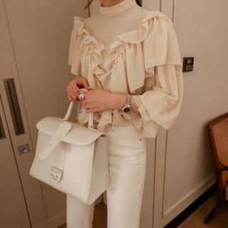 Merlene - 荷叶雪纺衬衫