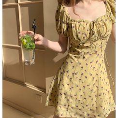 KiTi - 短袖碎花印花连衣裙