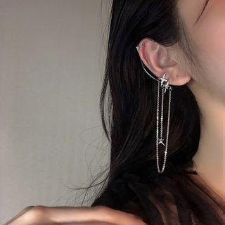 Poppin - 星星水钻链条耳挂