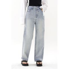 SIMPLY MOOD - Washed Wide-Leg Jeans
