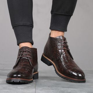 Taragan - Faux Leather Ankle Boots