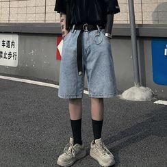 INStudio - 宽腿牛仔短裤