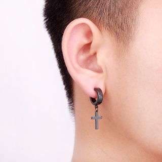 Prushia - Cross Huggie Earring/Clip-On Earring