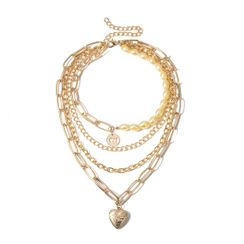 BAST - Heart Chain Layered Necklace