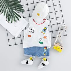 Mini Bae - Kids Set: Printed Tank Top + Shorts