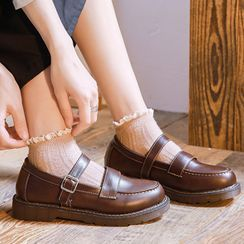 Yuki Yoru - Mary Jane Buckled Flats