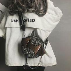 HOT KISS - Sequin Devil Crossbody Bag
