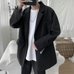VEAZ - Plain Open-Front Blazer