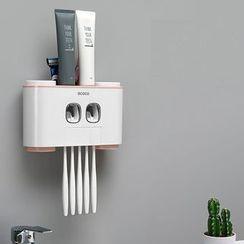 Cloud Forest - 黏墙牙刷架连牙膏挤压器