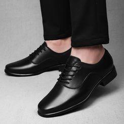 戀上舞 - 粗跟繫帶舞蹈鞋