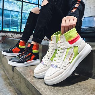 YERGO - High Top Lace Up Sneakers