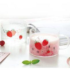 Yomerto - Strawberry Printed Drinking Glass