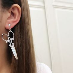 Mimishi - Metallic Drop Earring