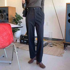 Cherryville - Band-Waist Pleated Pants