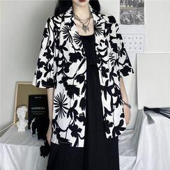 MELLO - 花朵印花中袖衬衫