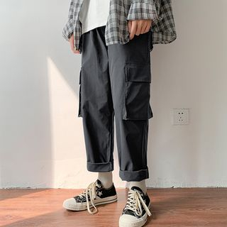 Tiaota - 九分直筒工裝褲