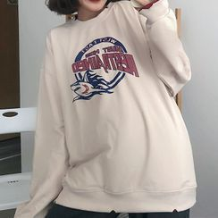Cloud Nine - Shark Print Long Sleeve Sweatshirt
