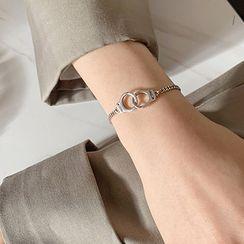 Jiniro - 925 Sterling Silver Handcuff Bracelet